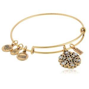 Alex and Ani 2016 Snowflake bracelet gold